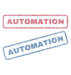 Automation textile stamps vector