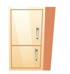 Bathroom cabinet kitchen refrigerator vector