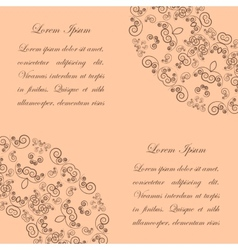 Beige background with vintage ornate pattern vector