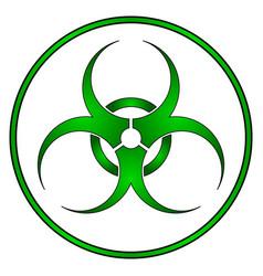 Biohazard sign on white vector