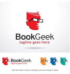 book geek logo template vector image