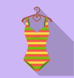 bright striped swimsuit in the colors of the vector image