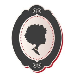 Cameo Lady afro hair vector