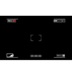 Camera viewfinder Template focusing screen of the vector