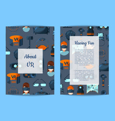 card flyer or brochure template vr vector image