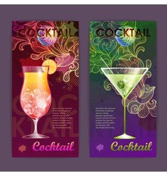 Cocktail poster Disco background vector