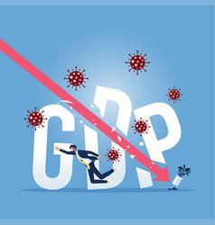 Coronavirus outbreak world wide economic recession vector