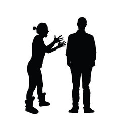 couple black silhouette in various poses vector image