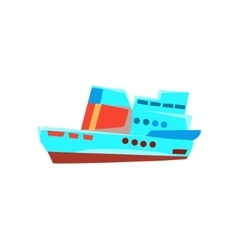 Cruise Liner Toy Boat vector image