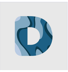 D water font template design vector