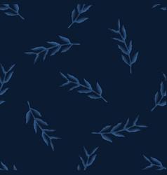 Dark classic blue watercolor leaf texture vector