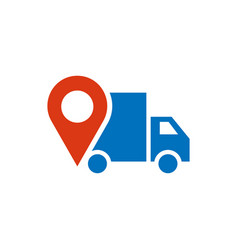 delivery truck icon graphic design template vector image