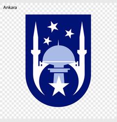 emblem ankara vector image