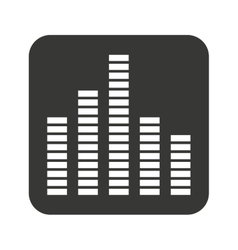 Equalizer waves isolated icon vector