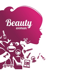 Fashion beautiful woman silhouette vector image
