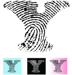 Fingerprint Alphabet Letter Y vector image