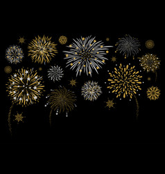 fireworks design on black background vector image