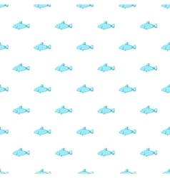 Fish pattern cartoon style vector image
