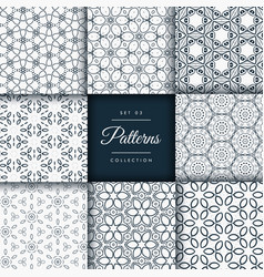 Floral and flower style patterns collection pack vector