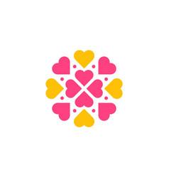 flower heart pattern vector image
