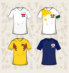 Football sport wear russia 2018 vector