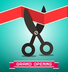 Grand Opening Retro vector image