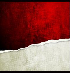 Grunge wall with broken edge vector image