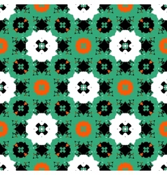 Hand painted pattern with bold ethnic motifs vector