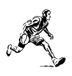 Hand sketch basketball player vector image