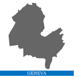High quality map of city in switzerland vector