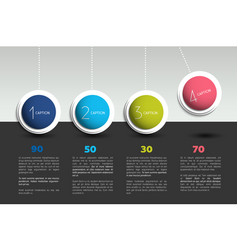 Infographic option banner with pendulum color vector