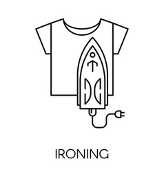 Ironing service cleaning company iron and vector