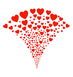 Love heart fountain stream vector