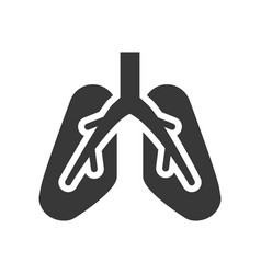 Lung icon healthcare and medical related solid vector