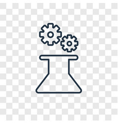 mechanism concept linear icon isolated on vector image