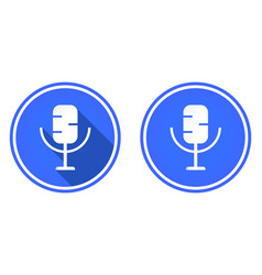 microphone round flat icon multimedia icon vector image