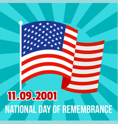 national remembrance american day background flat vector image