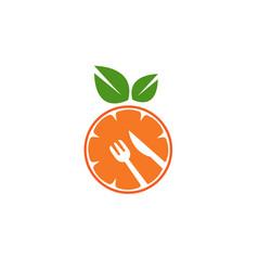 orange fruit kitchen utensil symbol logo vector image
