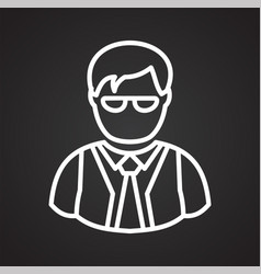 person icon on background for graphic and web vector image