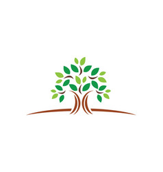 Plant green tree ecology logo vector