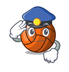 police volleyball character cartoon style vector image