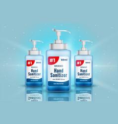 Realistic hand sanitizer bottle mockup concept vector