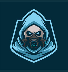 reaper mascot logo esport vector image