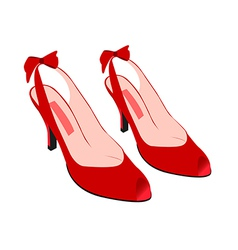 Red high heels vector