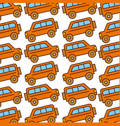 safari van pattern background vector image