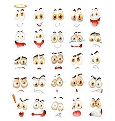 Set facial emotions vector