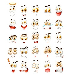 Set of facial emotions vector