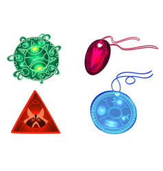 Set of talismans unusual items that give vector