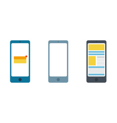 Set smartphone isolation on a white background vector