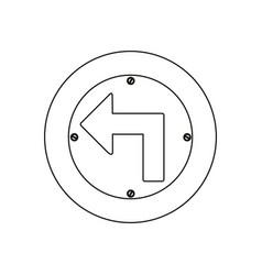 Silhouette metallic circular frame turn left vector